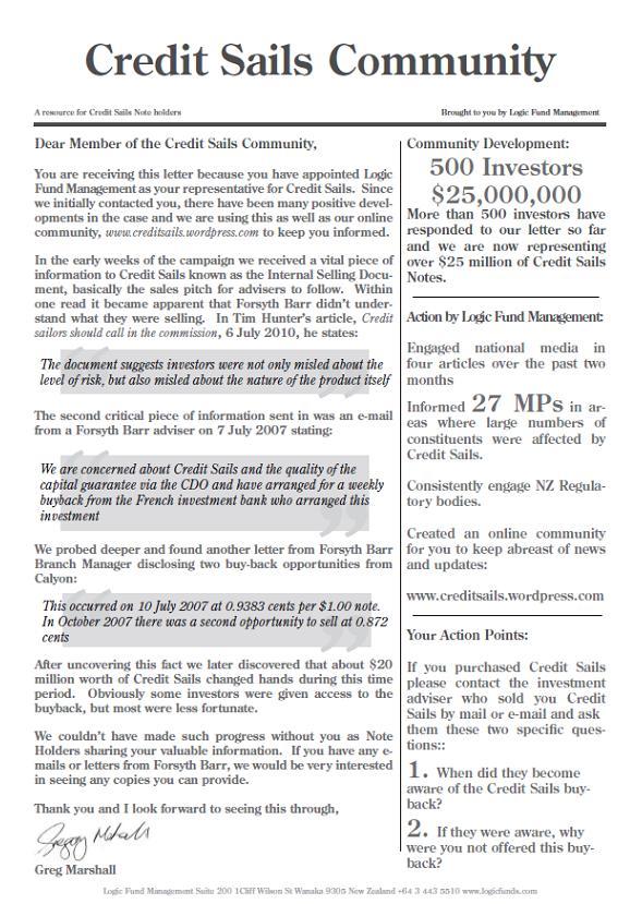 Credit Sails Community Newsletter