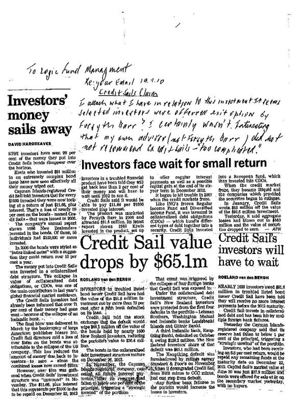 Credit Sails News Clippings